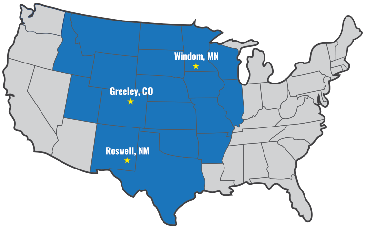 Territory covered by Fotune Transportation